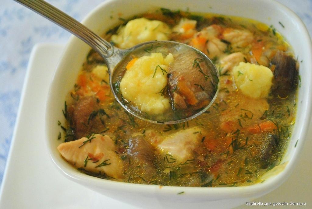 сварить картофельный суп с гречкой и. шампиньонами рецепт