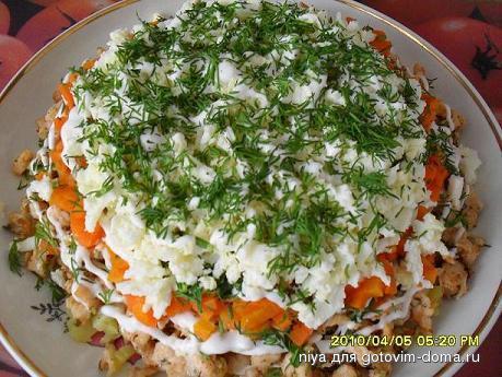 салат деревенский рецепт без грибов поэтому шерстяное