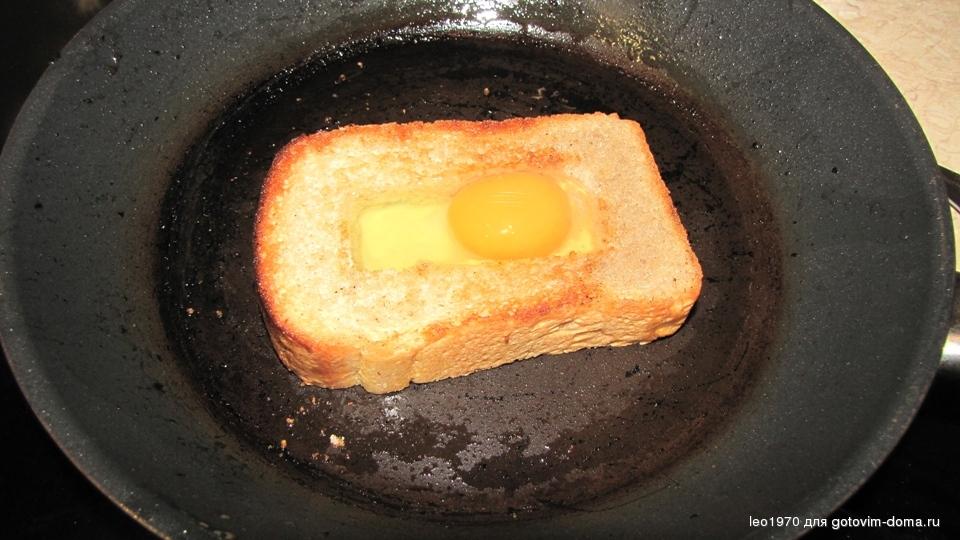 Яйцо на хлебе рецепт