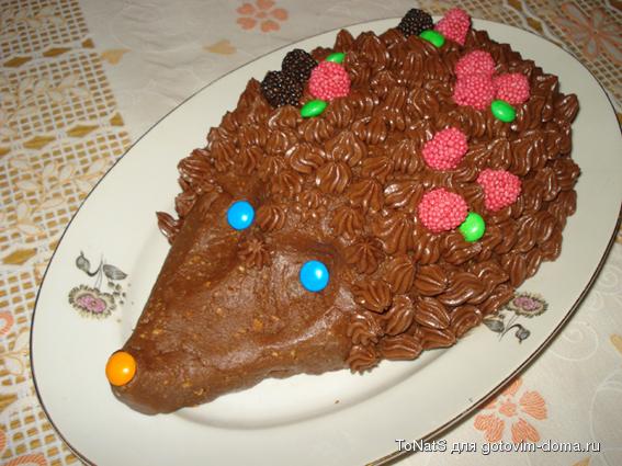 Рецепт торт ежик из печенья