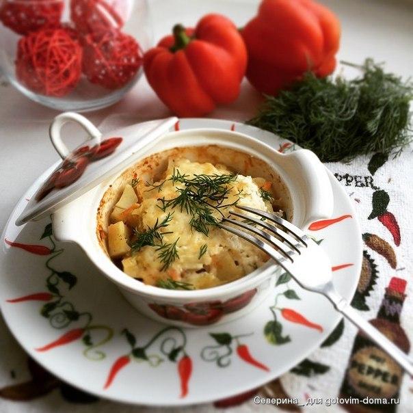 Горшочки со свининой и грибами и картошкой рецепт в 86