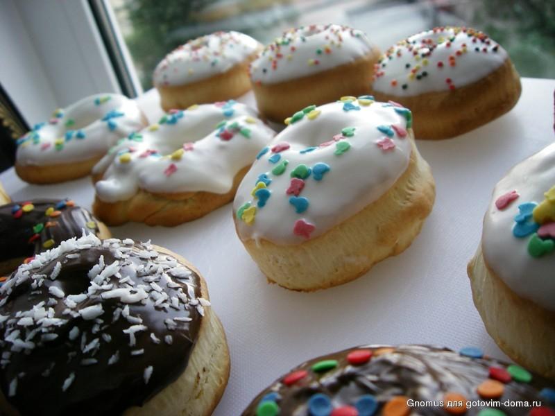Пончики с глазурью (американский рецепт как в «Dunkin Donuts»)