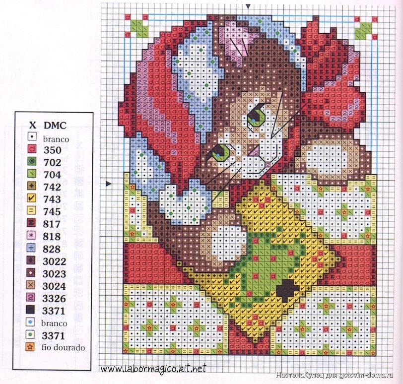 Детская вышивка крестом новый год