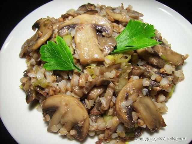 Гречка с грибами и мясом рецепт с пошагово в духовке