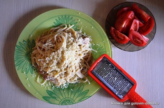 Рецепт карбонара без яиц рецепт