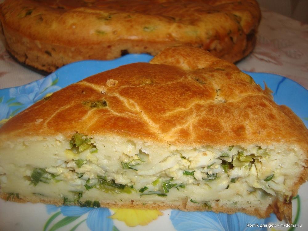 пирожки на кефире с яйцом и зеленым луком на сковороде