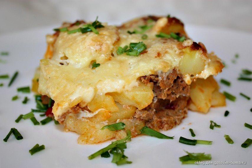 Картофель с фаршем в духовке рецепты пошагово с сыром