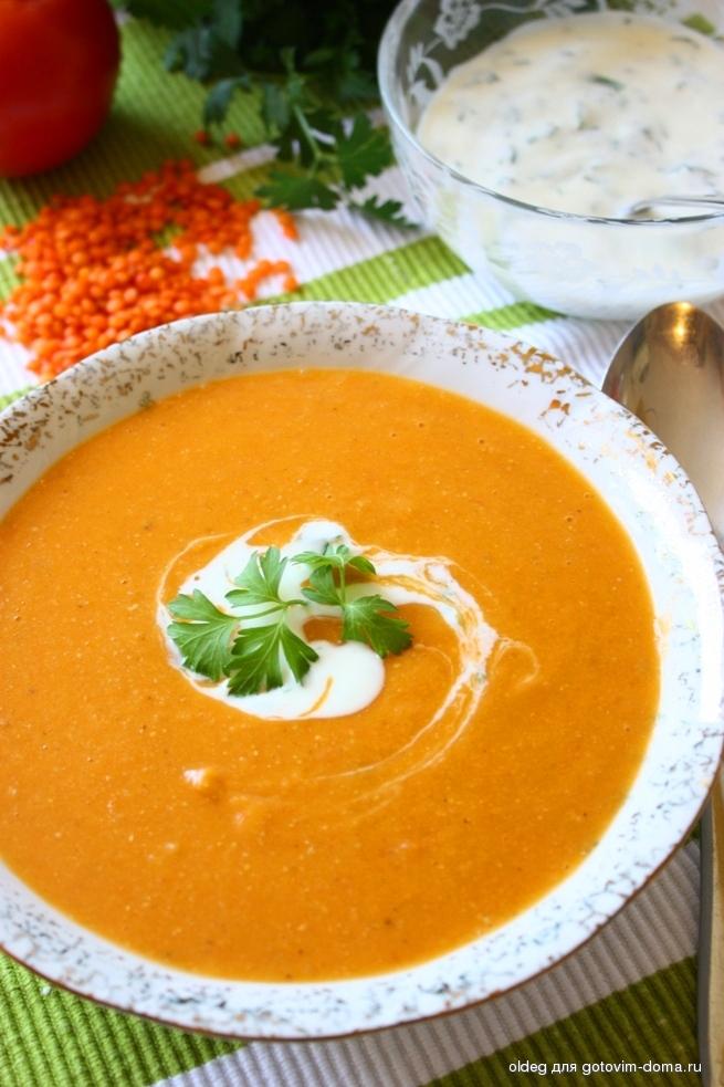 Чечевичный крем суп рецепт