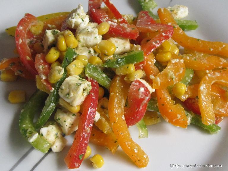 салат с перцами и кукурузой рецепты