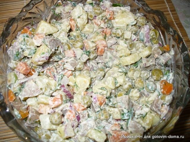 Салаты со свиным языком рецепты с простые и