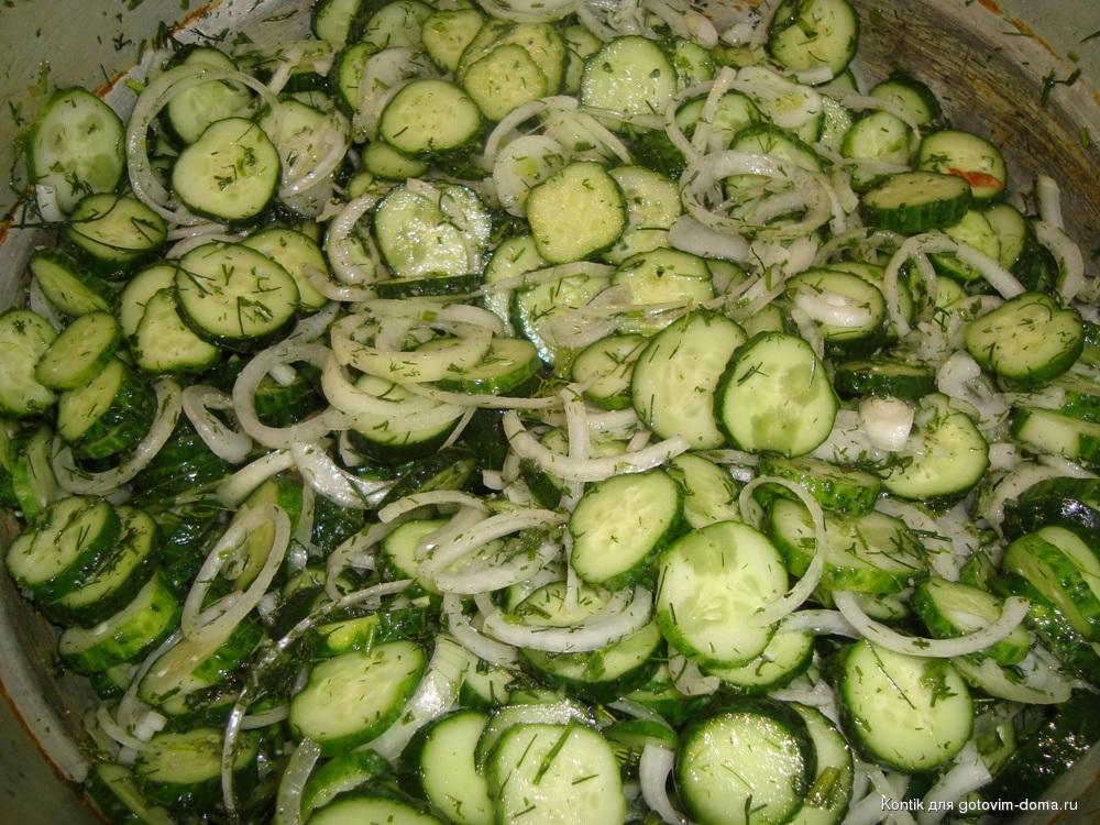 Какие салаты сделать из огурцов на зиму