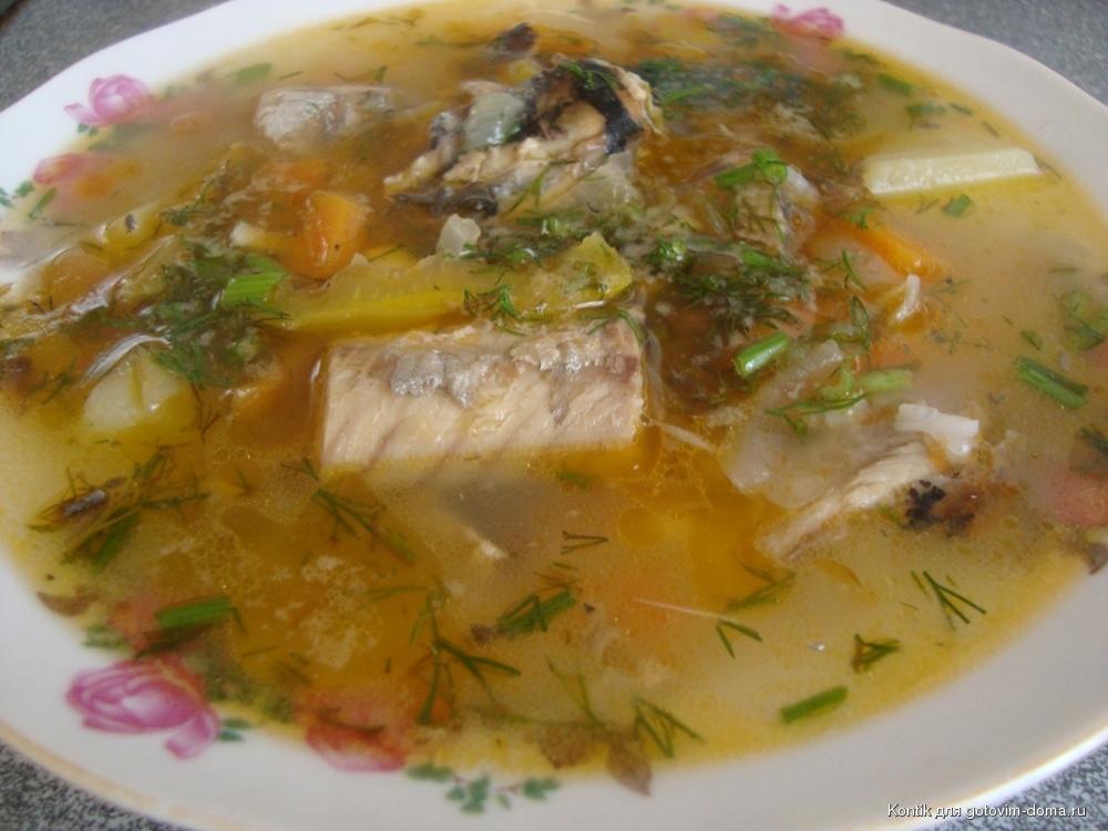 Рыбный суп из консервов с перловкой с фото