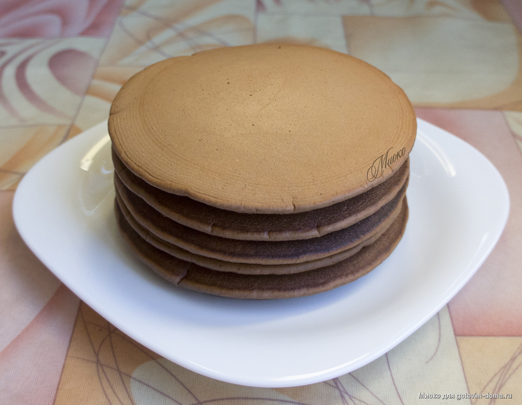 Панкейки рецепт с какао пошагово на молоке пышные