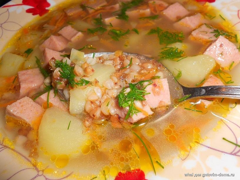 Суп шахтерский с гречкой и колбасой рецепт