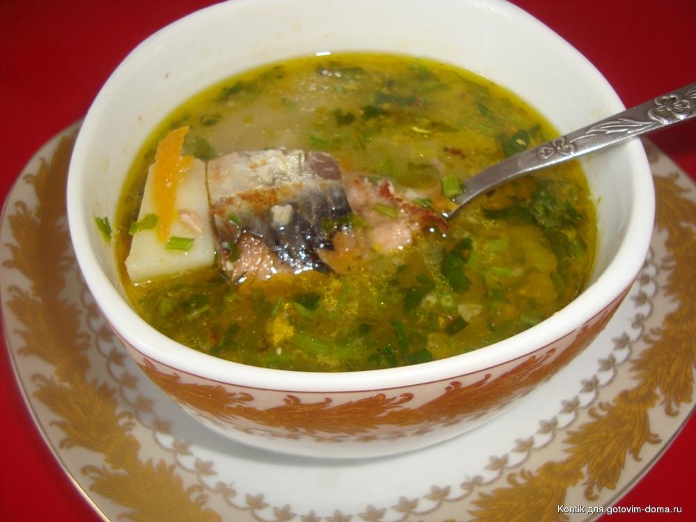 рецепт пошаговый суп с консервами и рисом