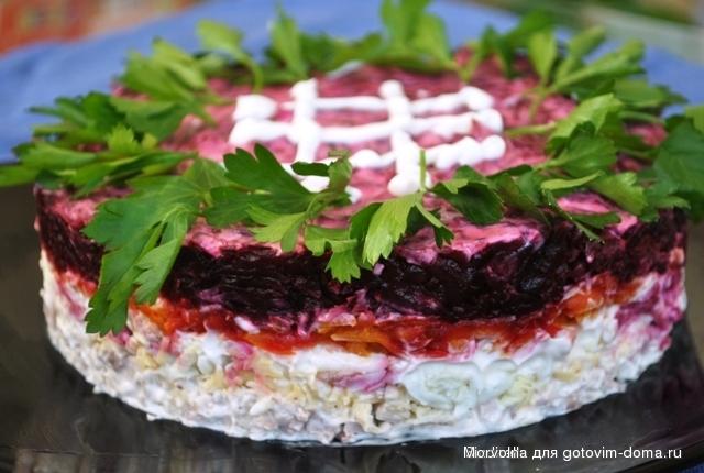 Салат с мясом свеклой и морковью рецепт