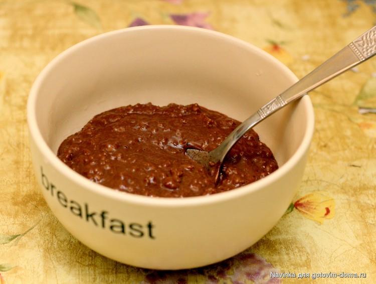 овсяная каша с какао