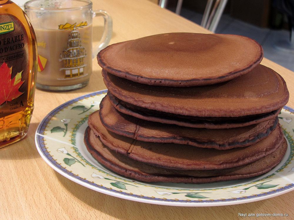 Шоколадные панкейки - кулинарный рецепт