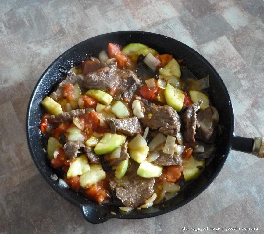 Рецепт блюд на чугунной сковороде