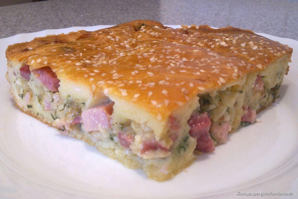 Наливной пирог с капустой рецепт в мультиварке