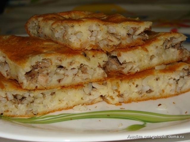 Пирог из жидкого теста с капустой — рецепт с фото пошагово ...
