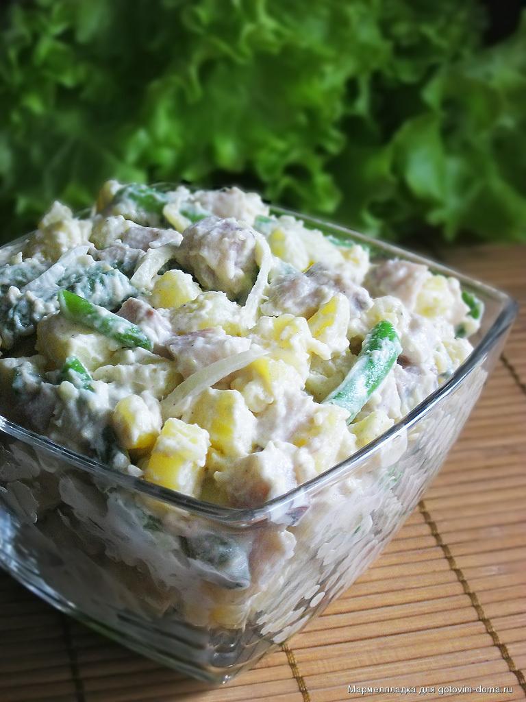 Салат с селедкой и фасолью рецепты