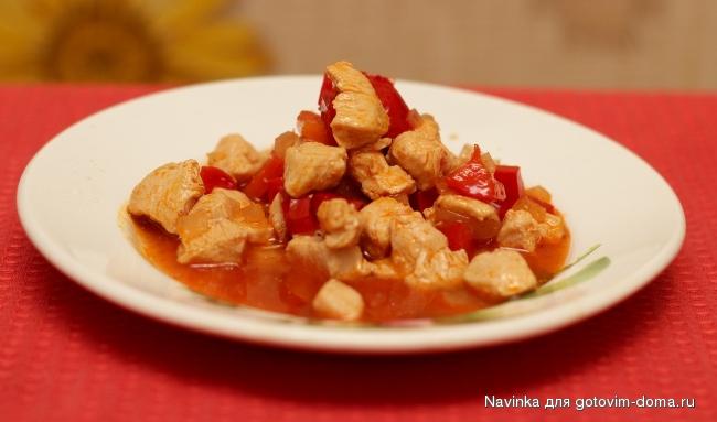 филе курицы тушеное в сметане на сковороде рецепт с фото пошагово