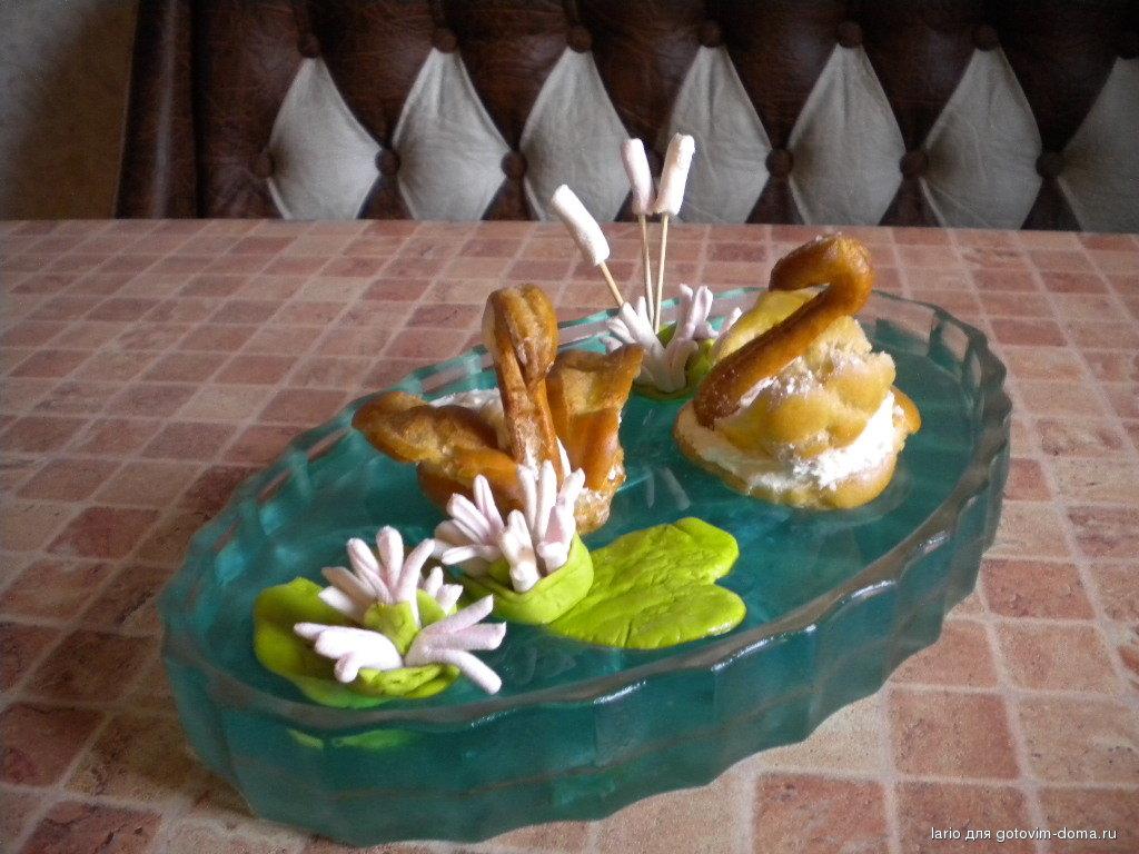 Лебеди из заварного теста и крем рецепт