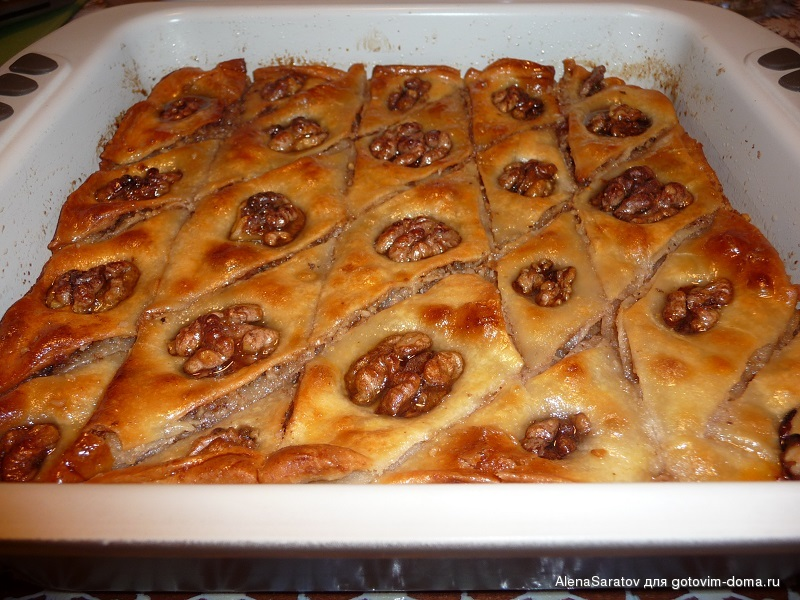 Пахлава рецепт с пошагово армянская