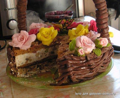 Мокрый торт торт битое стекло с фото