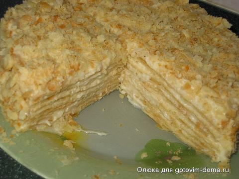 как испечь торт наполеон дома фото