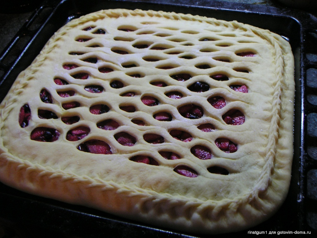 Открытые дрожжевые пироги рецепты фото