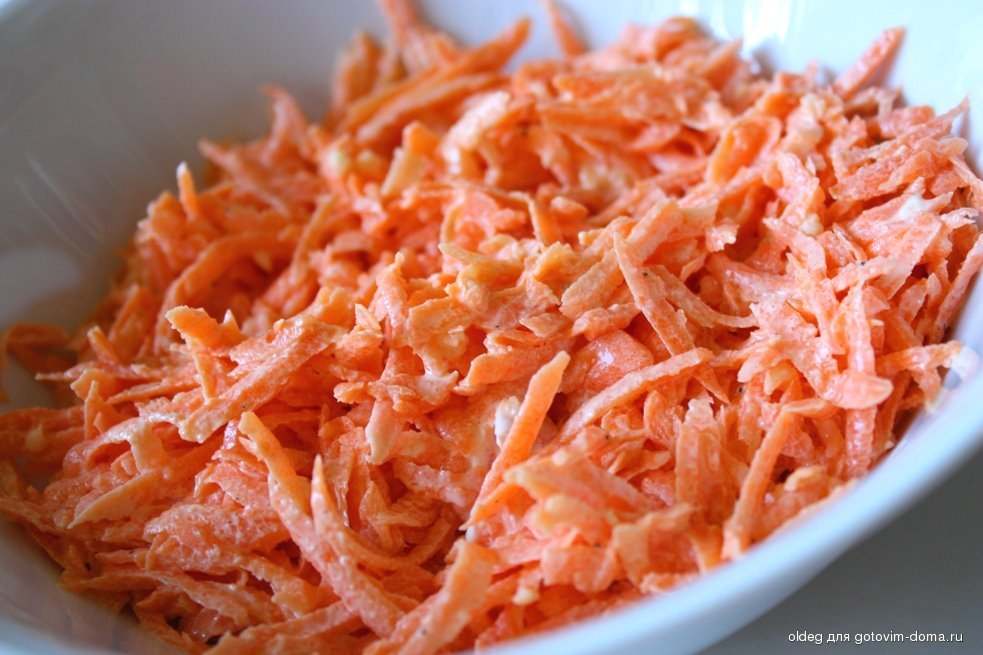 Морковный салат фото