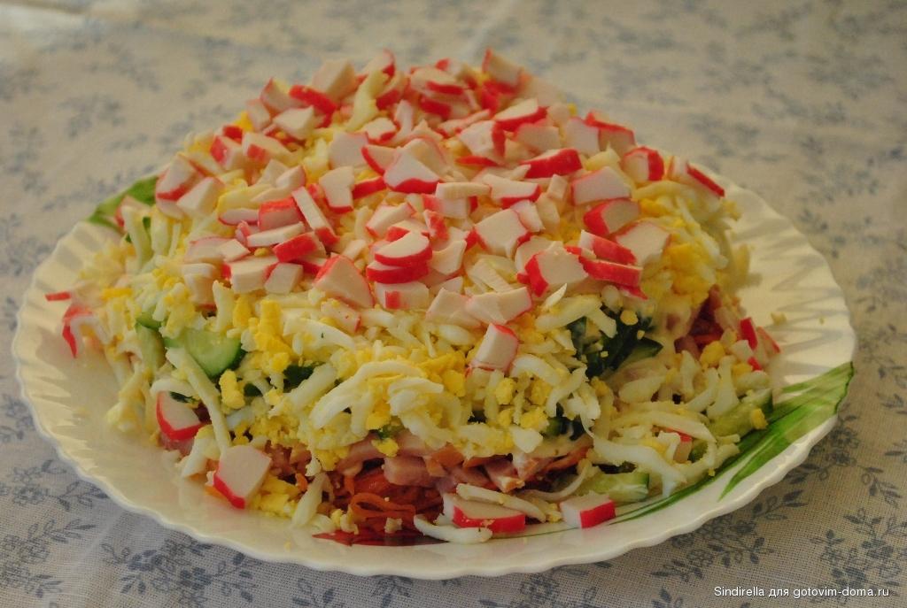 рецепт корейская морковка крабовые палочки салат