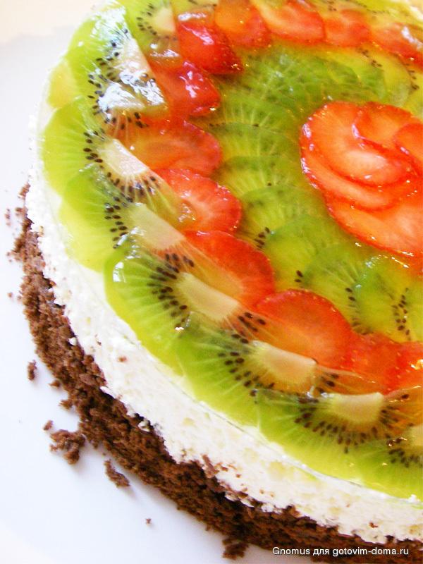 Шоколадно фруктовый торт рецепт пошагово