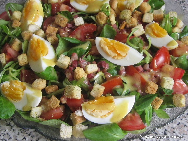 Салат с горошком и колбасой и капустой рецепт 73