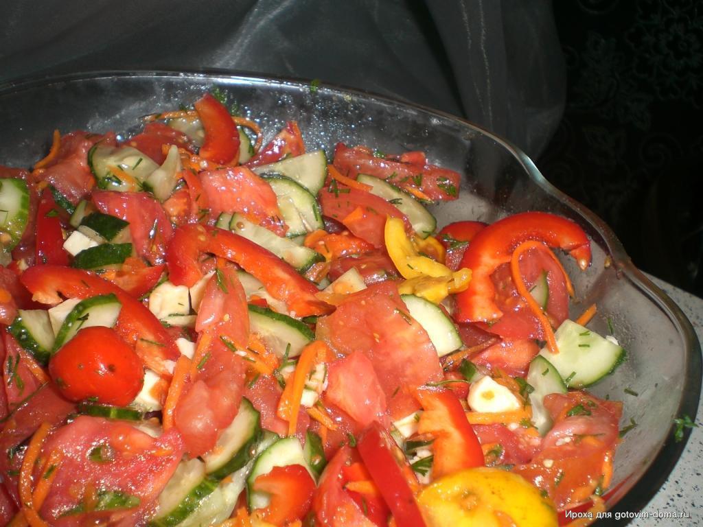 салаты осенние овощные