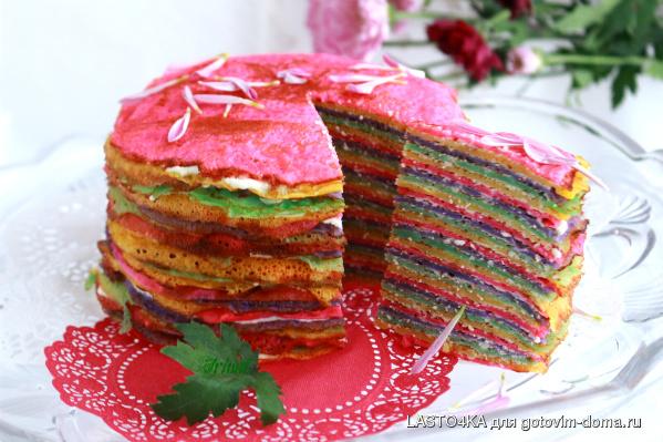 Как из блинов сделать торт