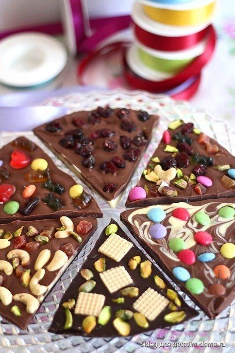 Шоколад своими руками с текстом 565