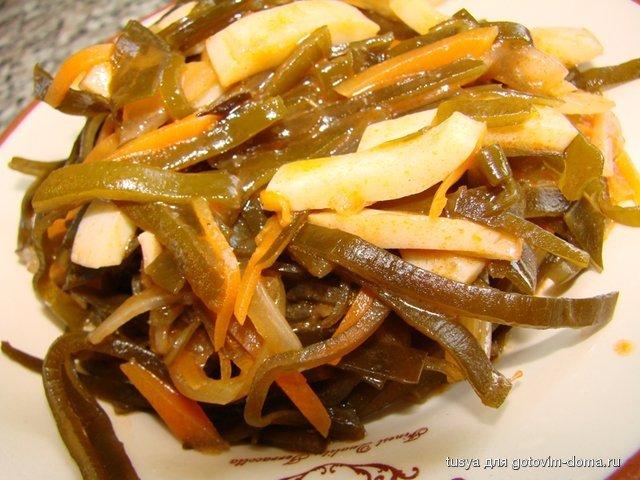 Солянка с морской капустой и кальмарами приготовить