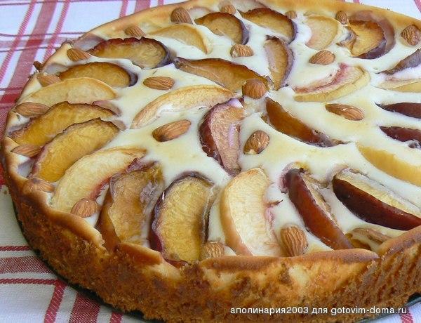 Торт с маскарпоне и персиками рецепт с фото