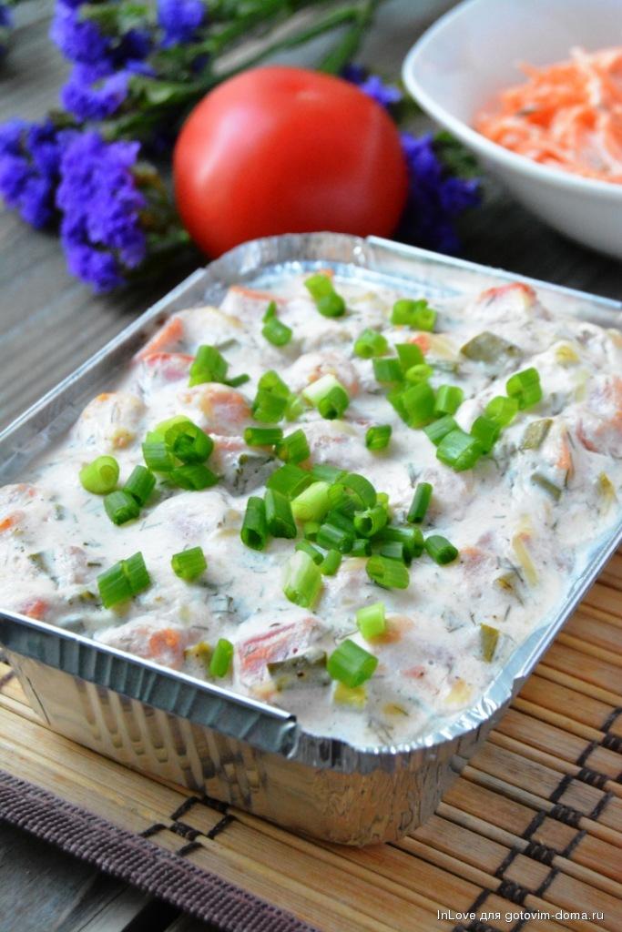 Соус для рыбы из сметаны с укропом