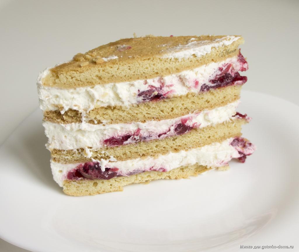 Песочный торт со сметанным кремом рецепт с фото
