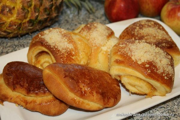 как приготовить пышки с яблочным повидлом