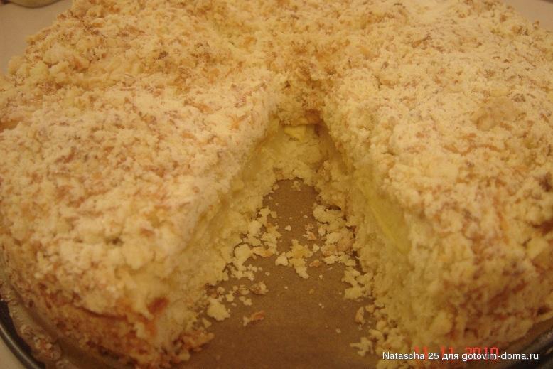 Пирог крошка с яблоками рецепт с фото