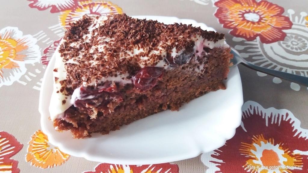 Шоколадный бисквитный торт с маскарпоне