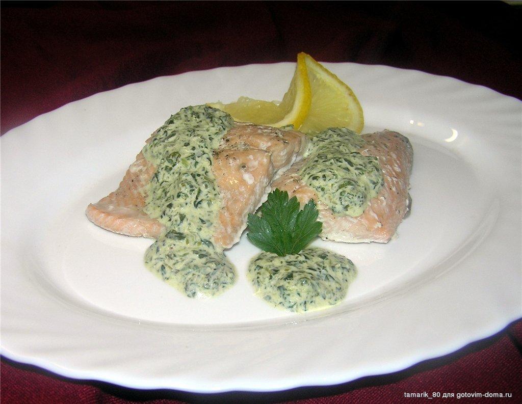 Соус из шпината к рыбе