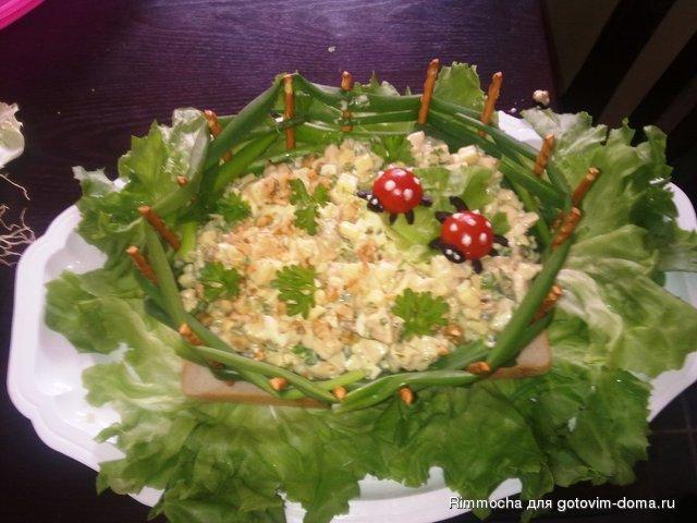 Салат в корзиночкеы
