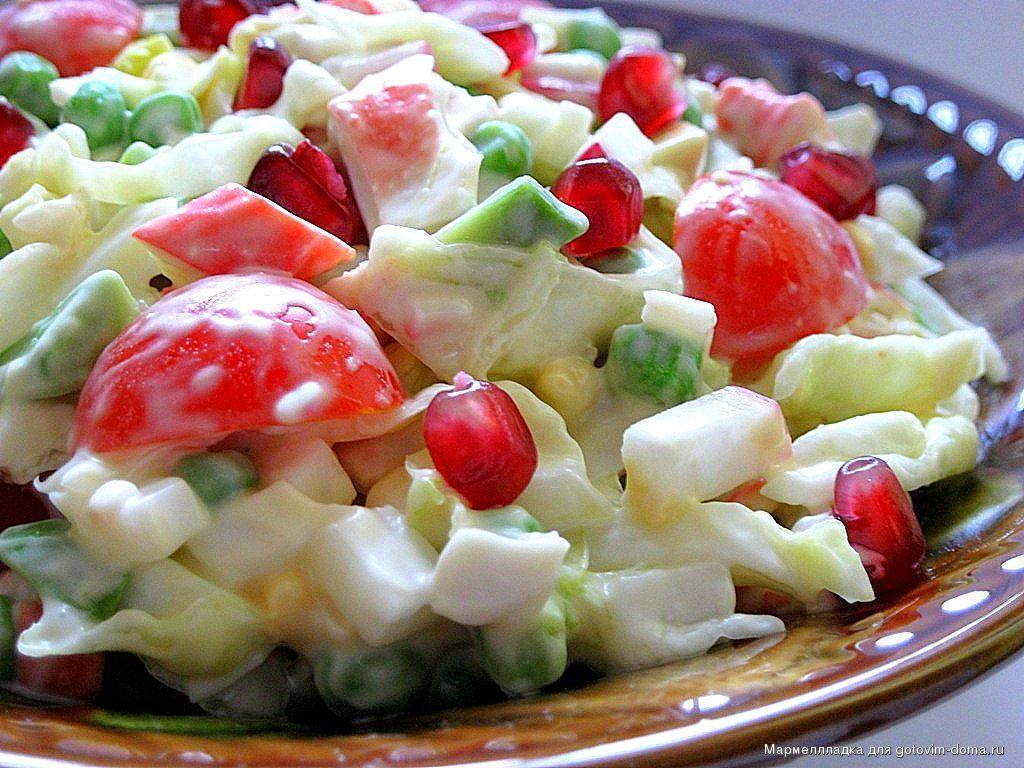 салат айсберг с крабовыми палочками рецепты