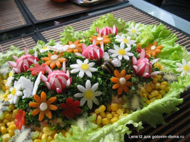 Украшение салатов на праздники